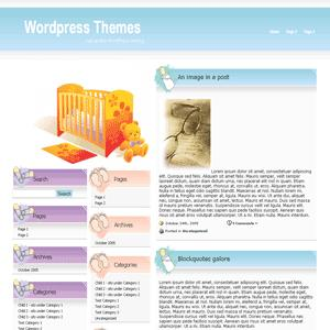 шаблон wordpress baby blog